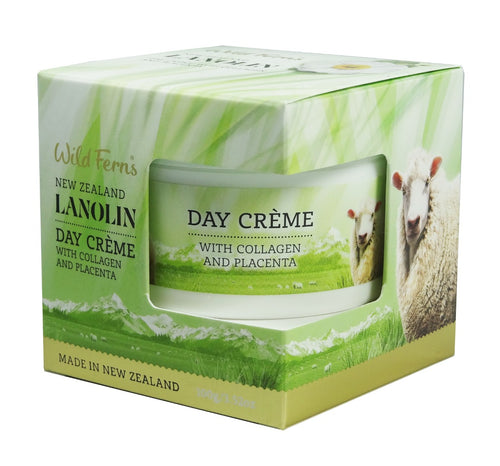 Wild Ferns Lanolin Day Creme with Collagen and Placenta 100g