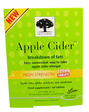 New Nordic Apple Cider High Strength - 60 Tablets