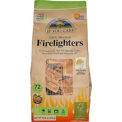 If You Care 100% Biomass Firelighters 72 Pieces