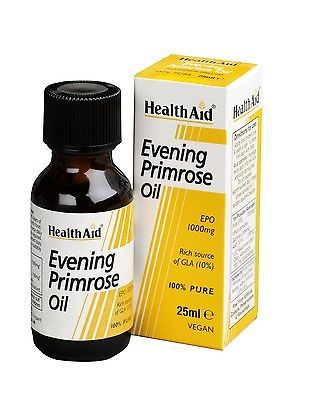 HEALTHAID EVENING PRIMROSE OIL 1000mg 25ml - 100% PURE - VEGAN
