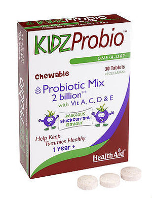 Healthaid Kids Probio Vegetarian Tablets - Blackcurrant - 30 Tablets