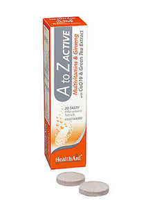 HEALTHAID A TO Z ACTIVE MULTIVITAMIN & GINSENG 20 VEGETARIAN TABLETS