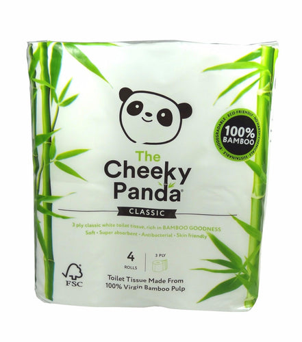 Cheeky Panda Bamboo Toilet Tissues 4 Rolls - mOrganics beauty