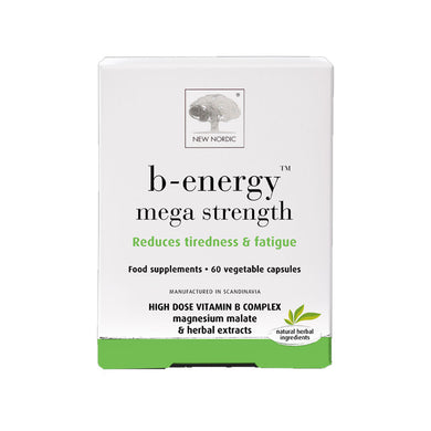 New Nordic B-Energy Mega Strength 60 Vegetable Capsules