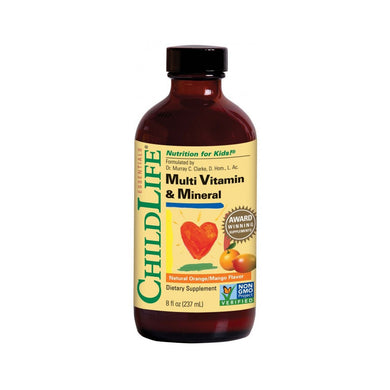 ChildLife Multi Vitamin & Mineral Orange/Mango Flavour 237ml/ 8fl.oz