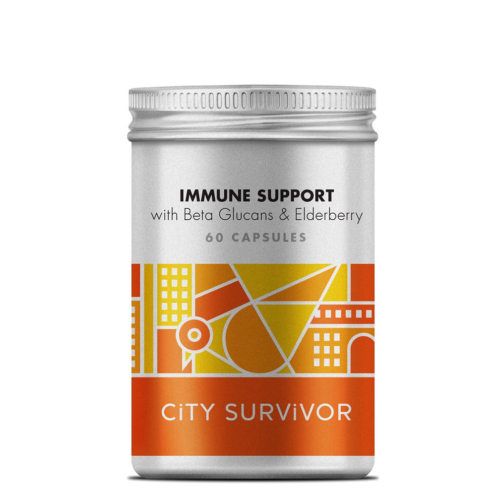 City Survivor Immune Support with Beta Glucans & Elderberry 60 Capsules