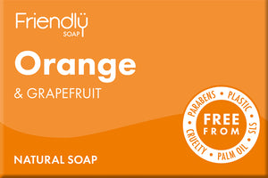 Friendly Soap Orange & Grapefruit Soap Bar 95g