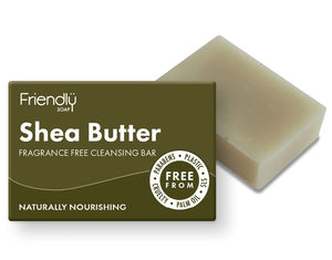 Friendly Soap Shea Butter Facial Cleansing Bar 95g - Fragrance Free