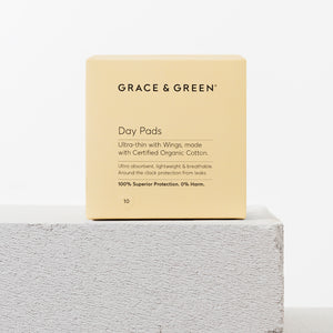Grace & Green - Pack of 10 Day Pads with Wings