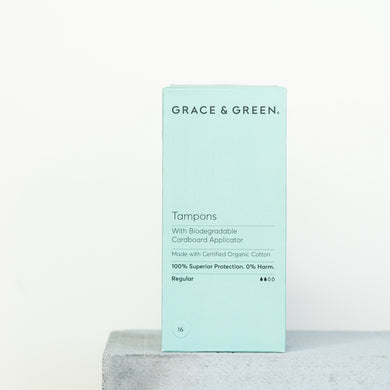 Grace & Green - Pack of 16 Tampons with Applicator - Regular