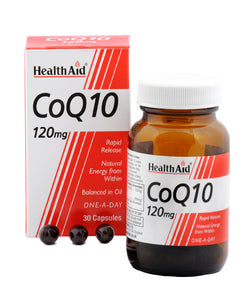 Healthaid CoQ10 120mg Ubiquinone Morganics Beauty