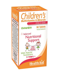 HealthAid Children's MultiVitamins & Minerals - 90 Chewable Vegetarian Tablets