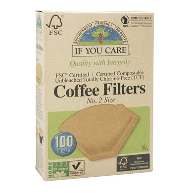 If You Care Unbleached Coffee Filters  NO.2 Size - 100 Filters