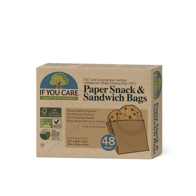 If You Care Paper Snack & Sandwich Bags - 48 Bags