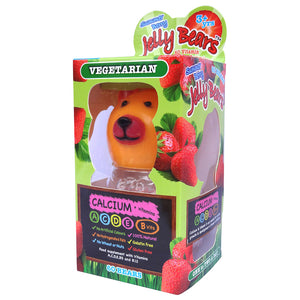 Jelly Bears Vegetarian Calcium + Vitamins 60 Bears - Free from Gelatin, Gluten