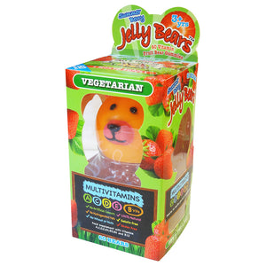 Jelly Bears Vegetarian Multivitamins in Fruit Bear gummies -Gelatin, Gluten Free