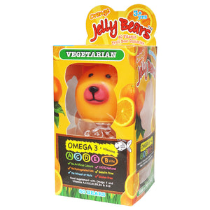 Jelly Bears Vegetarian Omega 3 + Vitamins 60 Bears - Free from Gelatin, Gluten