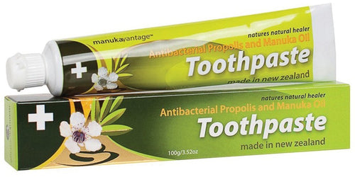 Manukavantage Antibacterial Propolis And Manuka Oil Toothpaste 100g (Pack of 2)