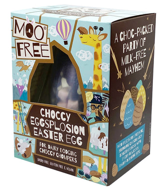 Moo Free Choccy Eggplosion Easter Egg 80g
