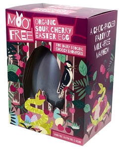 Moo Free Organic Sour Cherry Easter Egg 140g
