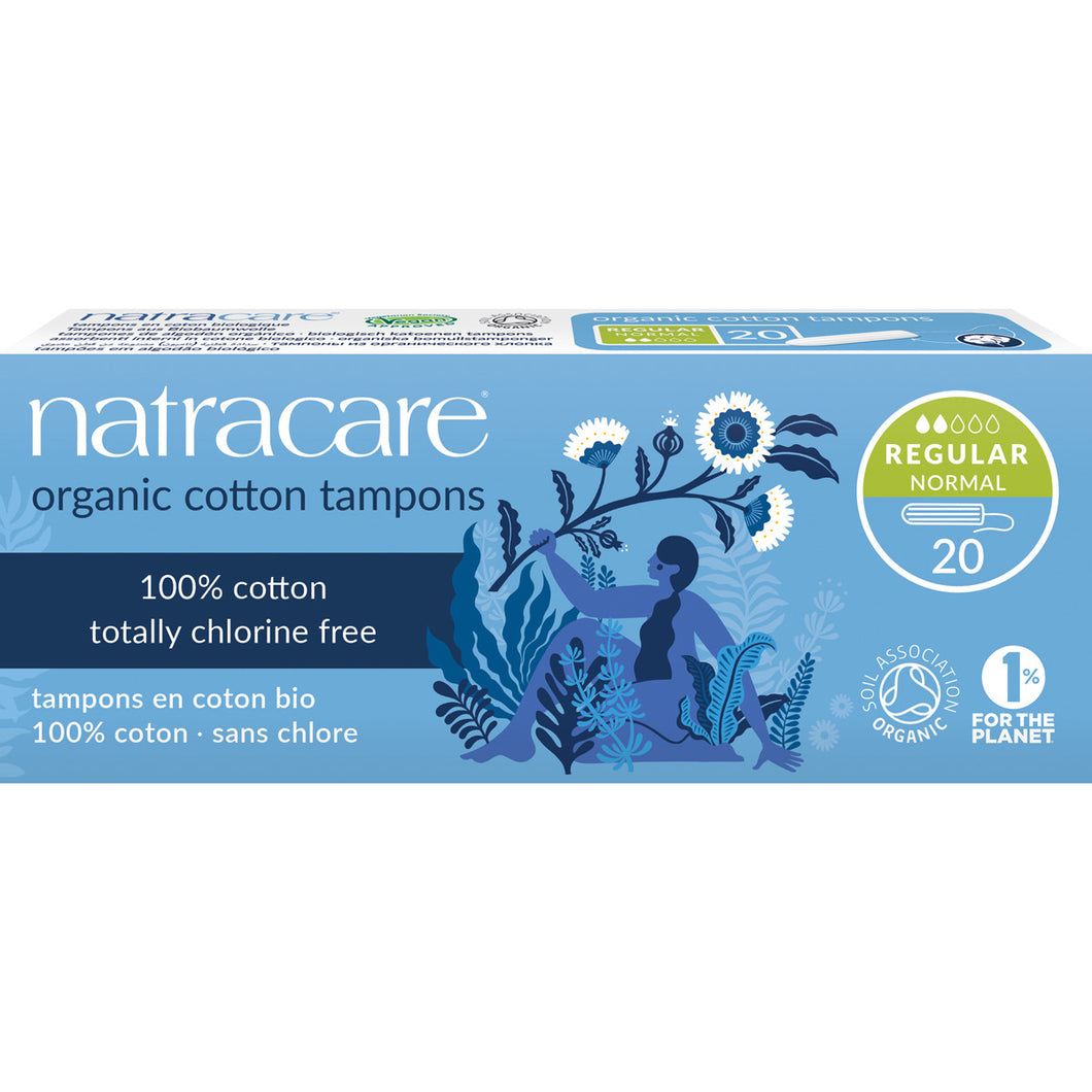 Natracare Regular Tampons without Applicator Pack of 20