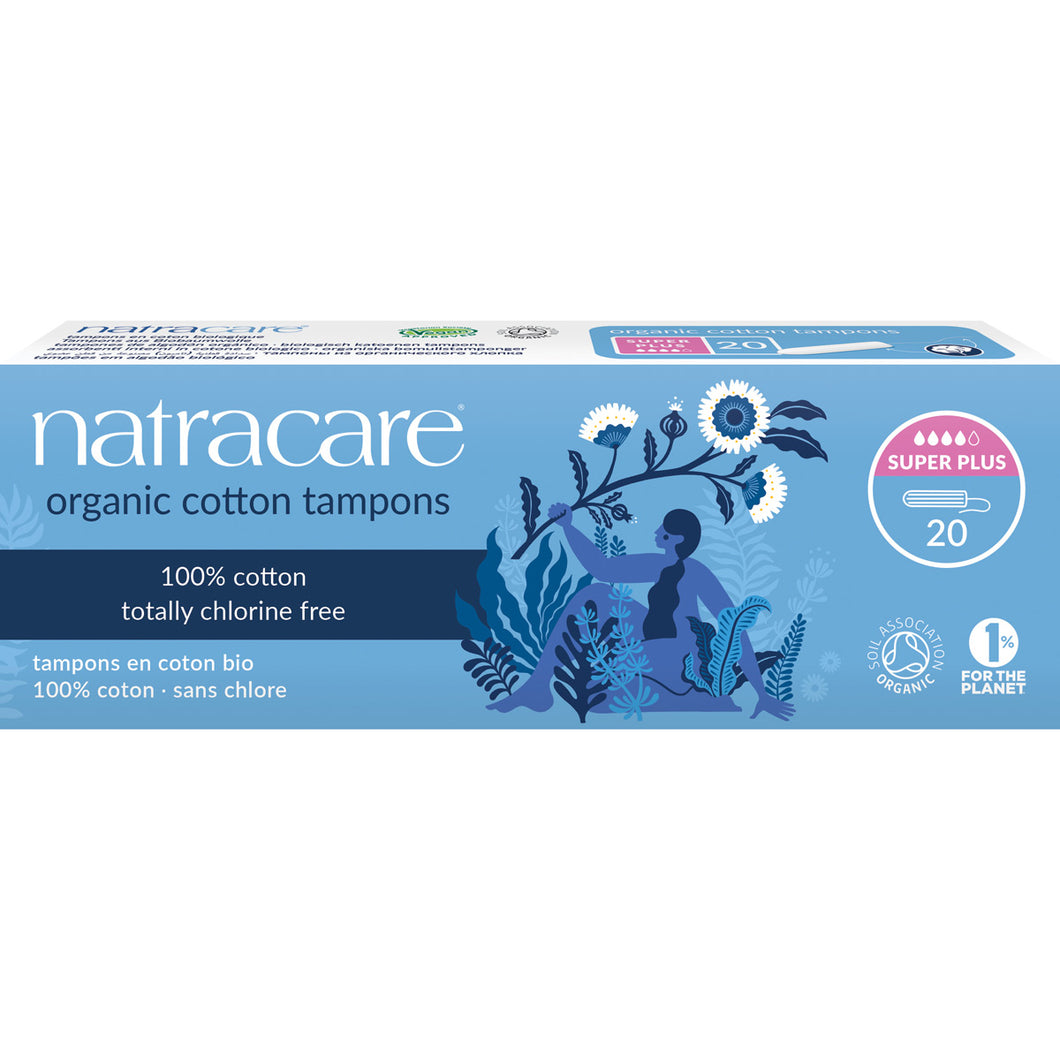 Natracare Super Plus Tampons without Applicator Pack of 20