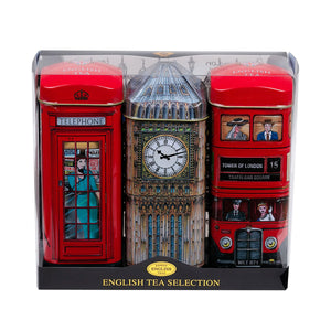 New English Teas Heritage Range - Bus, Big Ben, Phone Box Triple Pack Gift Set