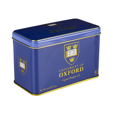 New English Teas University of Oxford Tea Tin with 40 English Breakfast Teabags