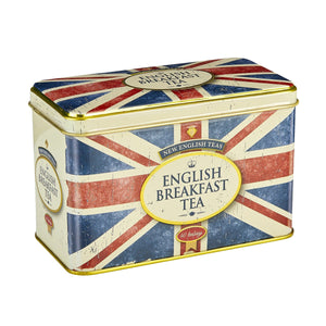 New English Teas Union Jack Tea Tin with 40 English Breakfast Teabags