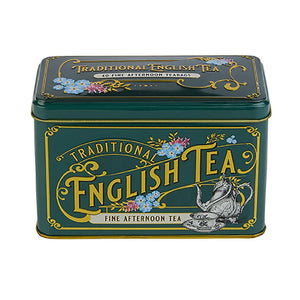 New English Teas Vintage Victorian Bottle-Green Tea Tin with 40 English Afternoon Teabags