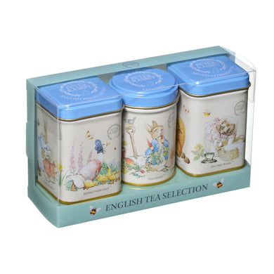 New English Teas Peter Rabbit Mini Triple Tins 70g - mOrganicsbeauty