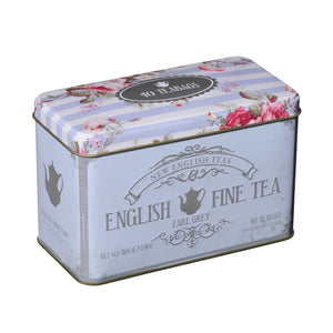New English Teas Floral Tea Tin with 40 Earl Grey Teabags