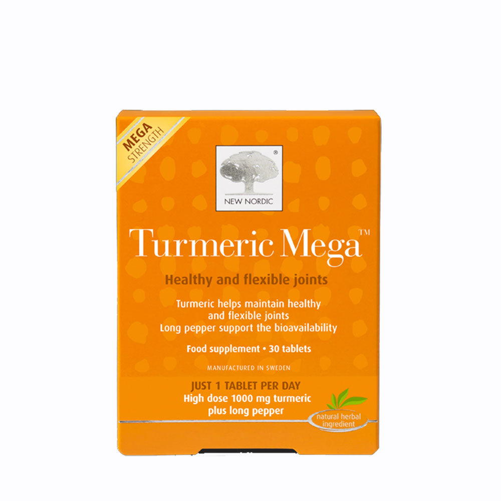 New Nordic Turmeric Mega 30 Tablets - Healthy Flexible Joints