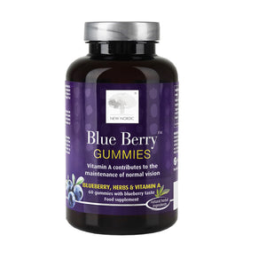 """ New Nordic Blue berry Gummies Vitamin A Contributes To The Maintenance of Normal Vision"""