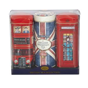 New English Teas Best of British Tall Tea Tin Collection with 42 Teabags
