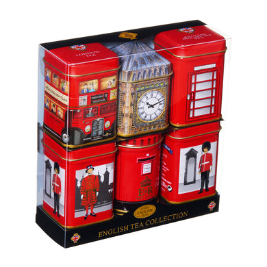New English Teas Best of British 6 Mini Tin Gift Pack  - mOrganicsbeauty