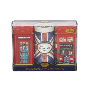 New English Teas Heritage Tea Selection Triple Tea Tins 28 Teabags