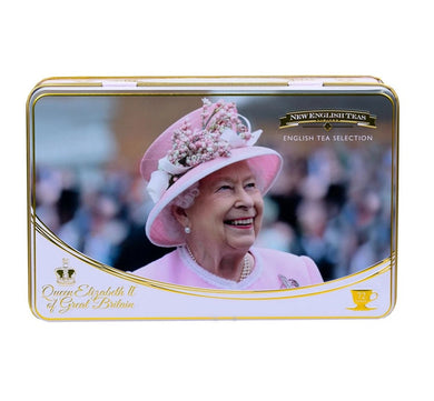 New English Teas Queen Elizabeth II Tea Tin With 72 Teabag Selection