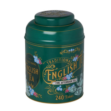 New English Teas Vintage Victorian Tea Tin 240 English Afternoon Teabags
