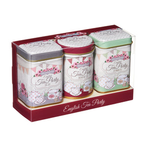 New English Teas English Tea Party Mini Tin Gift with Loose-Leaf Tea 70g