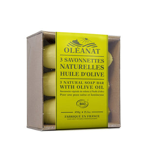 Oleanat Natural Soap Bars wit Virgin Olive Oil 3x150g