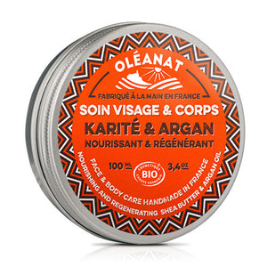 Oleanat Organic Shea Butter with Argan Oil 100ml
