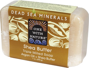 One With Nature Shea Butter Soap with Dead Sea Minerals & Argan Oil 200g
