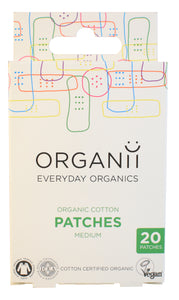 Organii Organic Cotton Plasters : 20 pieces 7.6cm x 3.5cm