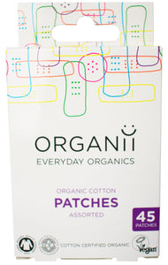 Organii Organic Cotton Plasters - 45 mixed pieces