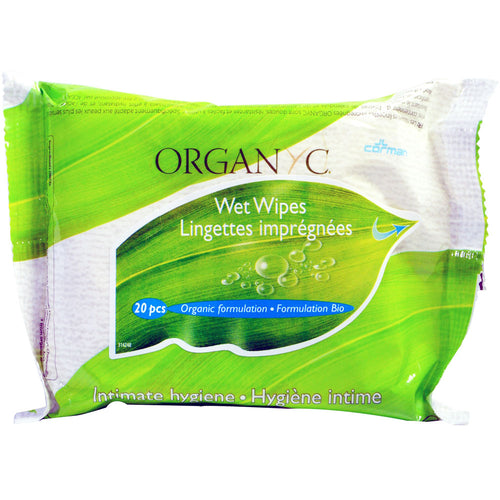Organyc Wet Wipes - 20 Wipes Per Pack