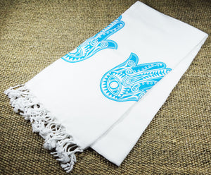 Morganicsbeauty Turkish Hammam Bamboo Peshtemal, Beach Towel Hands 90x170cm