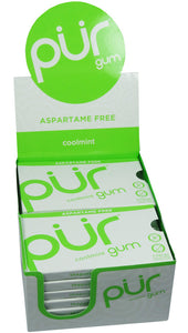 PUR Gum Coolmint Blister 9 Pieces (Pack of 12)