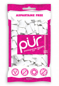 PUR Gum Pomegranate & Mint Bag 77g 55 pieces