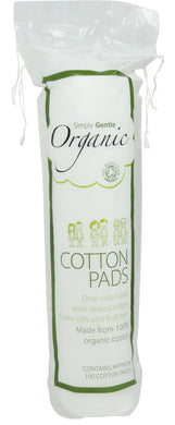 Simply Gentle Organic Cotton Cosmetic Pads Pack of 100